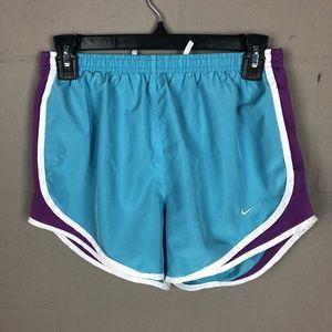 Nike Dri-fit Women's Running Shorts Size S Blue TV